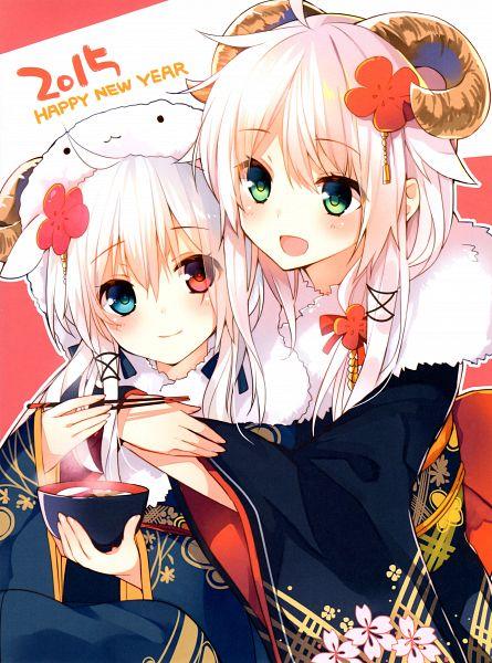 Tags: Anime, Mishima Kurone, W - Mishima Kurone Artworks, Ciel Sacred, Anceril Sacred, Scan, Happy 2015, Mobile Wallpaper, Original