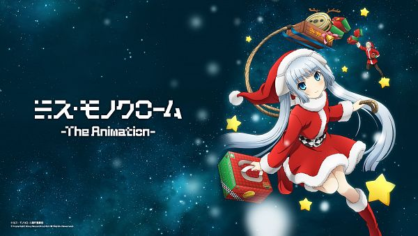 Tags: Anime, Miss Monochrome, Maneo (Miss Monochrome), Miss Monochrome (Character), Ruu-chan, Vacuum, Wallpaper, HD Wallpaper, Official Art, Official Wallpaper