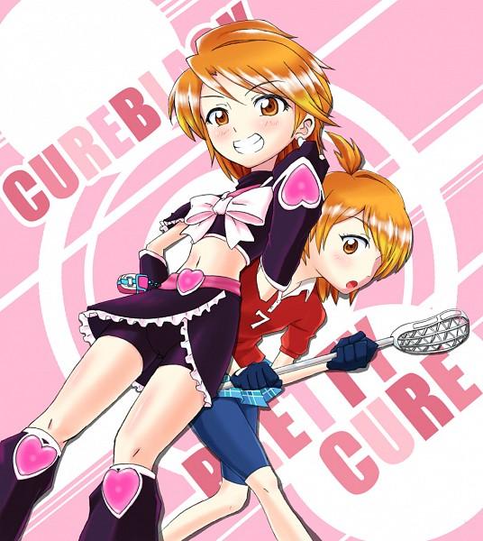 Tags: Anime, Pixiv Id 689962, Futari wa Precure, Misumi Nagisa, Cure Black, Lacrosse, Fanart From Pixiv, Fanart, Pixiv, Natalie Blackstone