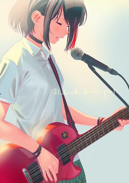 Tags: Anime, Pixiv Id 4318699, BanG Dream! Girls Band Party!, Mitake Ran, Playing Guitar, Fanart, Fanart From Pixiv, Pixiv