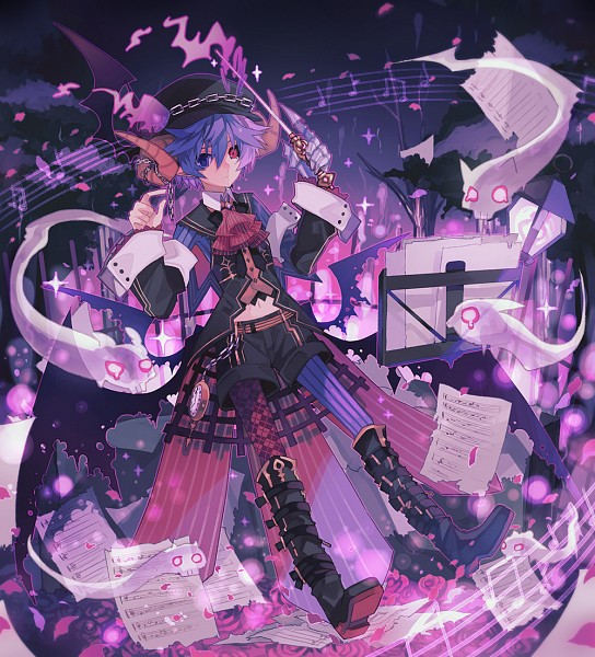 Tags: Anime, Miwasiba, Music Stand, Pocket Watch, Music Staff, Sheet Music, Flying Paper, Original, Merc Storia 1st Anniversary Illustration Contest, PNG Conversion, Pixiv, MerSto Iracon New Design