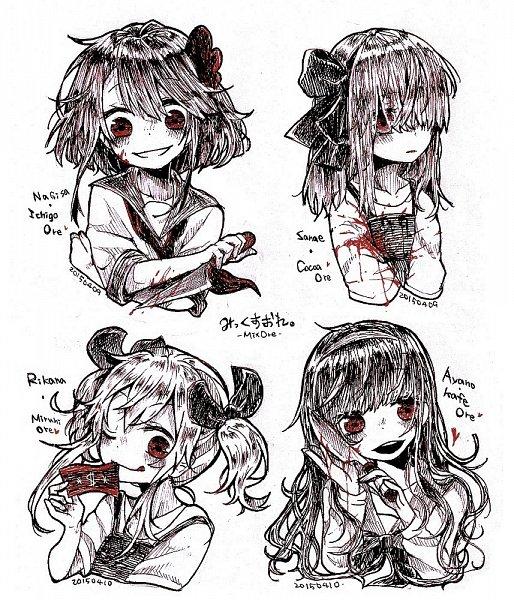Tags: Anime, Pixiv Id 3829625, Mix Ore, Nagisa Ichigaulait, Rikana Millefiori, Sanae Cocoaulait, Hand Drawn, Ayano Cafeaulait, Money, Pixiv, Fanart, Fanart From Pixiv