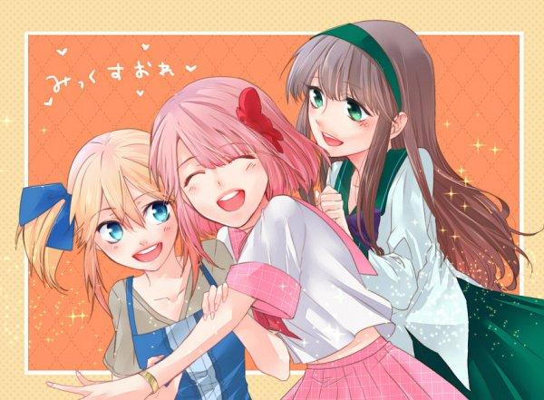 Tags: Anime, Pixiv Id 11829487, Mix Ore, Rikana Millefiori, Nagisa Ichigaulait, Ayano Cafeaulait