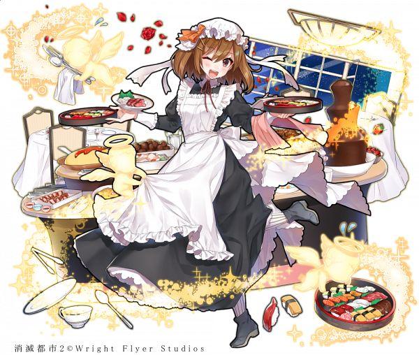 Tags: Anime, Shirako Miso, Wright Flyer Studios, Shoumetsu Toshi, Miya (Shoumetsu Toshi), Sushi, Official Art