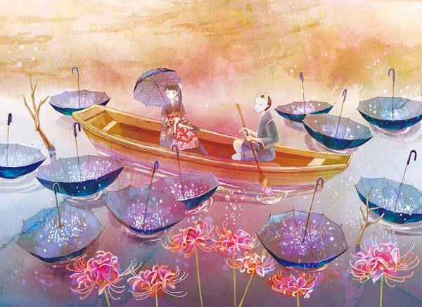 Tags: Anime, Miyabe Sachi, Boat, Pixiv