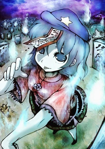 Tags: Anime, Koohee, Touhou, Miyako Yoshika, Tatara Kogasa, Graveyard, Yoshika Miyako
