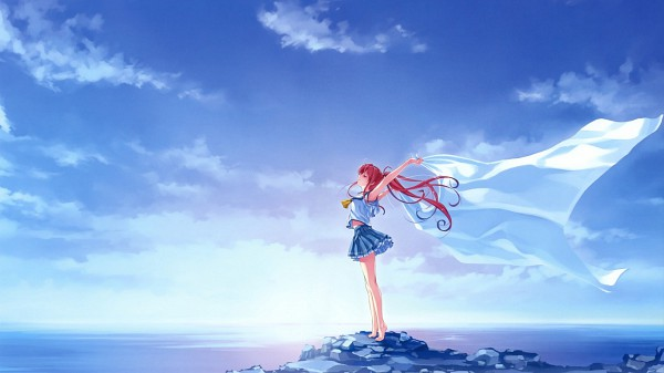 Tags: Anime, Misaki Kurehito, Deep Blue Sky & Pure White Wings, Miyamae Tomoka