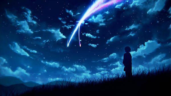 Tags: Anime, Pixiv Id 1110804, Kimi no Na wa., Miyamizu Mitsuha, PNG Conversion, Facebook Cover, Wallpaper