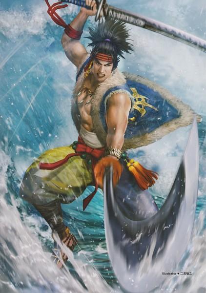 Tags: Anime, Koei, Sengoku Musou, Miyamoto Musashi (Sengoku Musou), Official Art