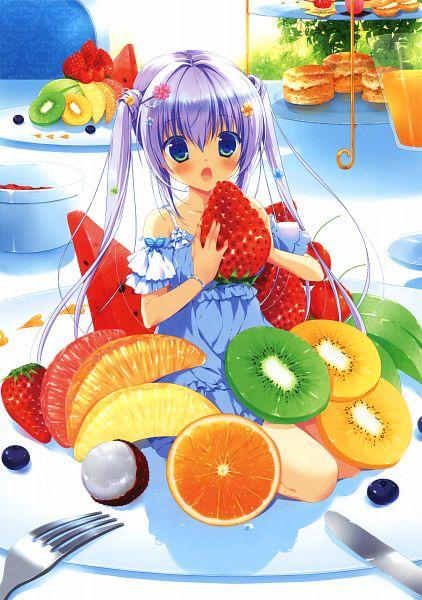 Tags: Anime, Miyasaka Miyu, Eshi 100-nin Ten 04, Grapefruit, Lychee, Coconut, Kiwi (Fruit), Orange Juice, Blueberry, Berry, Scan