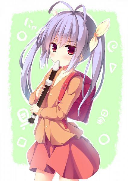 Tags: Anime, Megarisu, Non Non Biyori, Miyauchi Renge, Randoseru, Flute