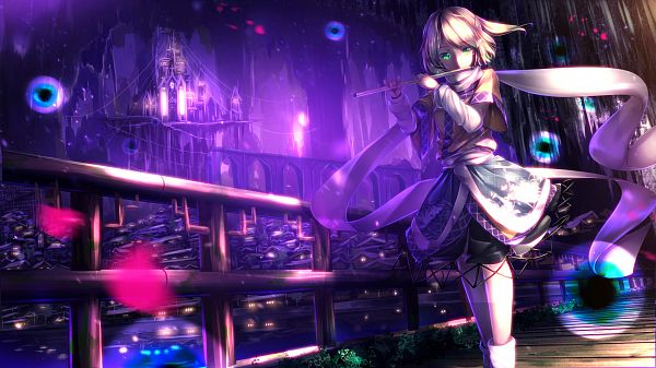 Tags: Anime, ryosios, Touhou, Mizuhashi Parsee, Flute, Facebook Cover, Revision, Fanart From Pixiv, Fanart, Pixiv, Parsee Mizuhashi