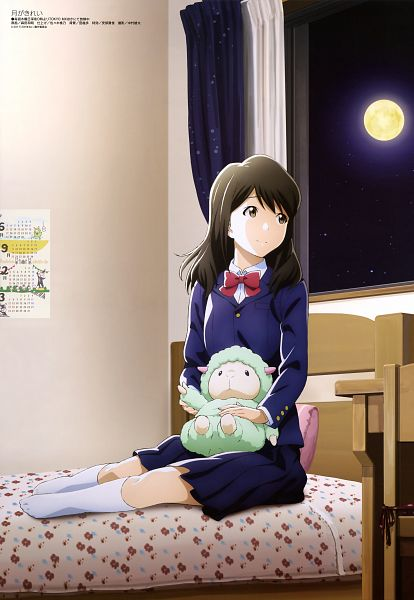 Tags: Anime, Morita Kazuaki, Feel (Studio), Tsuki ga Kirei, Mizuno Akane, Scan, Official Art, Magazine (Source), Mobile Wallpaper