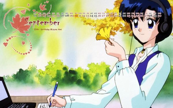 Tags: Anime, Bishoujo Senshi Sailor Moon, Mizuno Ami, Ginkgo Biloba, Calendar Year Request, Calendar (Source), Wallpaper