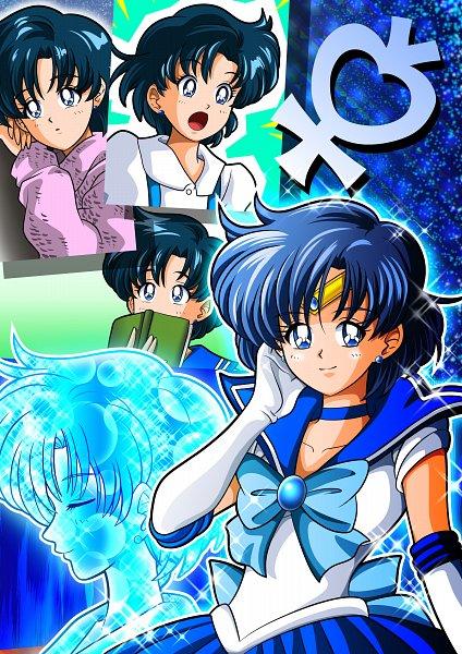 Tags: Anime, Pixiv Id 4682741, Bishoujo Senshi Sailor Moon, Mizuno Ami, Sailor Mercury, Fanart From Pixiv, Fanart, Pixiv