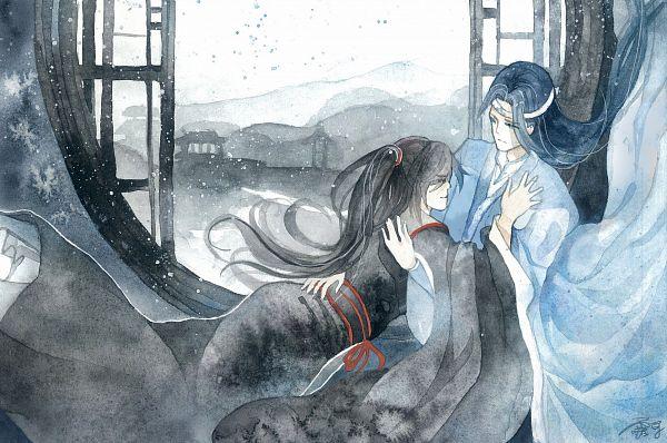 Tags: Anime, Pixiv Id 13467427, Mo Dao Zu Shi, Lan WangJi, Wei WuXian, Forehead Ribbon, Light And Dark