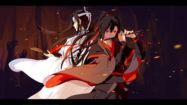 Tags: Anime, Pixiv Id 18079182, Mo Dao Zu Shi, Lan WangJi, Wei WuXian, Forehead Ribbon, Light And Dark, Wallpaper
