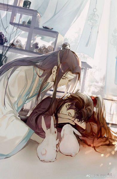 Tags: Anime, Pixiv Id 2224370, Mo Dao Zu Shi, Lan WangJi, Wei WuXian, Forehead Ribbon, Twitter, Fanart