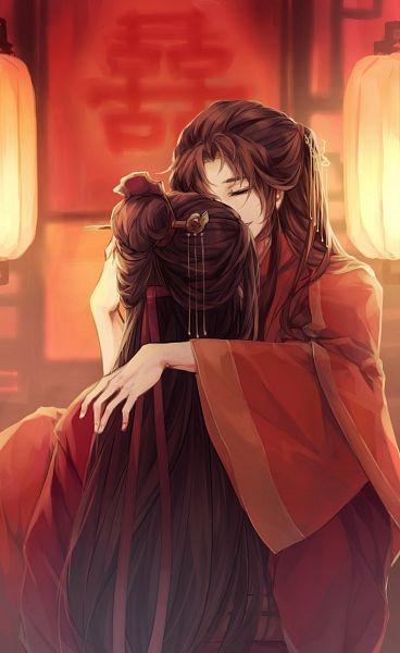 Tags: Anime, Seofim, Mo Dao Zu Shi, Wei WuXian, Lan WangJi, Chinese Wedding, Forehead Ribbon, Twitter, Fanart