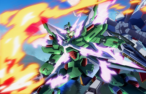 Tags: Anime, Tyuuboutyauyo, Mobile Suit Crossbone Gundam, Ems-tc02 Phantom Gundam, Crossbone Gundam X-1 Full Cloth, Explosion