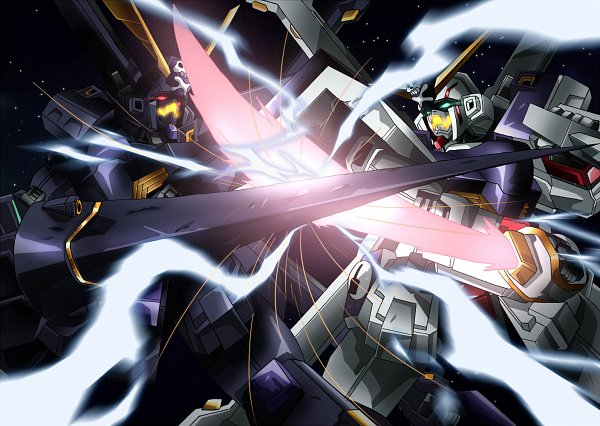 Tags: Anime, Tyuuboutyauyo, Mobile Suit Crossbone Gundam, Glowing Weapons, Crossbone Gundan X-2, Crossbone Gundam X-1