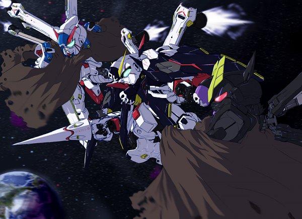 Tags: Anime, Mobile Suit Crossbone Gundam, SD Gundam G Generation, Crossbone Gundam X-3, Crossbone Gundam X-1, K.Sho, Crossbone Gundan X-2