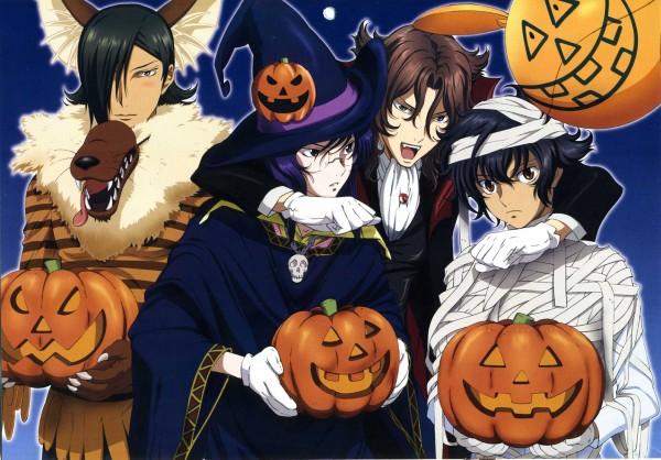 Tags: Anime, Sunrise (Studio), Mobile Suit Gundam 00, Neil Dylandy, Allelujah Haptism, Tieria Erde, Setsuna F. Seiei, Mummy, Werewolf, Artist Request, Official Art, Gundam Meisters