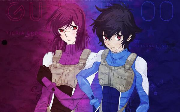 Tags: Anime, Mobile Suit Gundam 00, Tieria Erde, Setsuna F. Seiei, Wallpaper, Gundam Meisters
