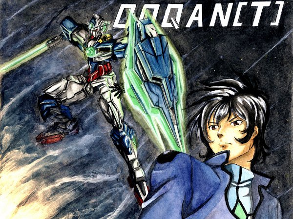 Tags: Anime, Pixiv Id 4398696, Mobile Suit Gundam 00, Setsuna F. Seiei, GNT-0000 00 Qan(T), Fanart, Pixiv, Fanart From Pixiv, Gundams