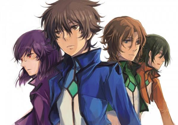 Tags: Anime, Mobile Suit Gundam 00, Allelujah Haptism, Tieria Erde, Neil Dylandy, Setsuna F. Seiei, Lyle Dylandy, Lockon Stratos, Artist Request, Gundam Meisters