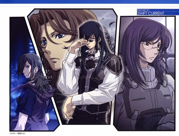 Tags: Anime, Mobile Suit Gundam 00P, Mobile Suit Gundam 00, Tieria Erde, Neil Dylandy, Lyle Dylandy, Grave Violento, Lockon Stratos, Allelujah Haptism, Gundam Meisters