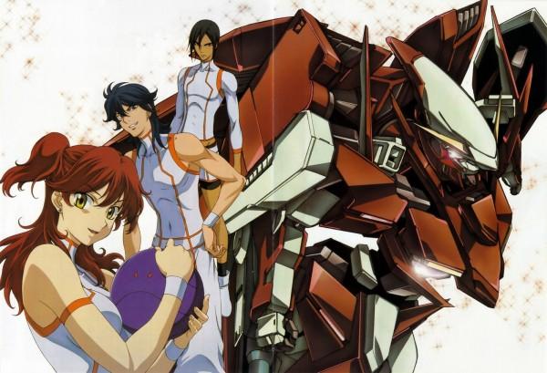 Tags: Anime, Mobile Suit Gundam 00, Michael Trinity, Nena Trinity, Haro, Johann Trinity, Gundams, Gundam Meisters