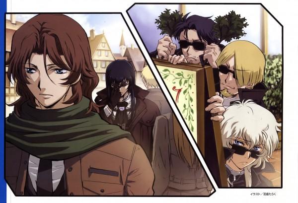 Tags: Anime, Uon Taraku, Mobile Suit Gundam 00P, Mobile Suit Gundam 00, Grave Violento, Neil Dylandy, Lyle Dylandy, Hixar Fermi, Lockon Stratos, Scan, Gundam Meisters