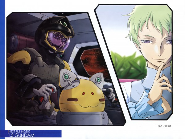 Tags: Anime, Mobile Suit Gundam 00P, Ribbons Almark, Haro, Space Suit, Innovator, Fon Spaak, Scan