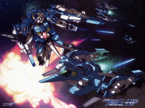 Tags: Anime, Mobile Suit Gundam 00P, Explosion