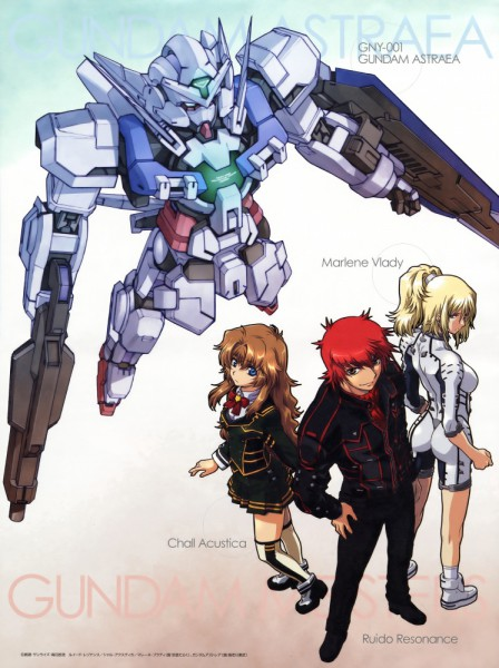 Tags: Anime, Mobile Suit Gundam 00P, Marlene Vlady, Ruido Resonance, Chall Acustica