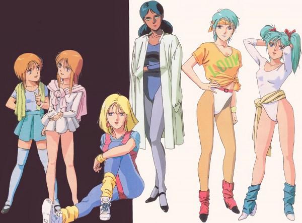 Tags: Anime, Hiroyuki Kitazume, Sunrise (Studio), Mobile Suit Gundam, Quess Paraya, Four Murasame, Puru Two, Elpeo Puru, Lalah Sune, Sayla Mass, Scan, Official Art