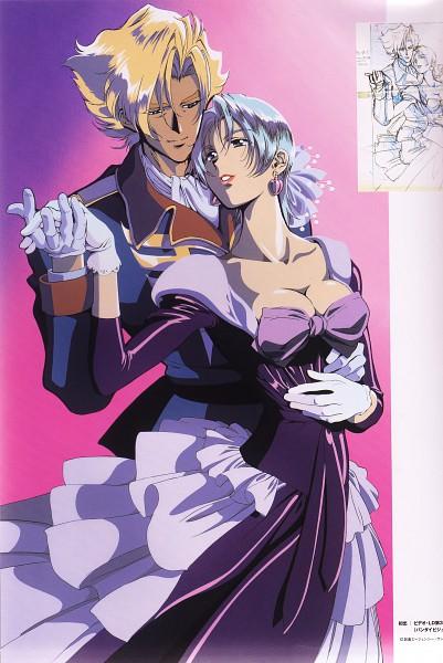 Tags: Anime, Sunrise (Studio), Mobile Suit Gundam, Mobile Suit Gundam 08th Ms Team, Aina Saharin, Ginias Saharin, Scan, Official Art, Sketch