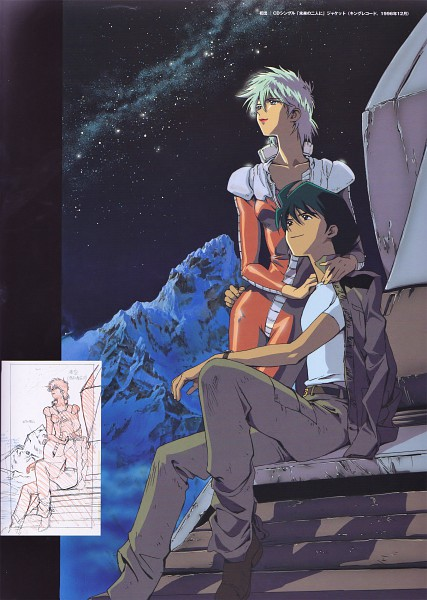 Tags: Anime, Sunrise (Studio), Mobile Suit Gundam, Mobile Suit Gundam 08th Ms Team, Shiro Amada, Aina Saharin, Official Art, Sketch, Scan