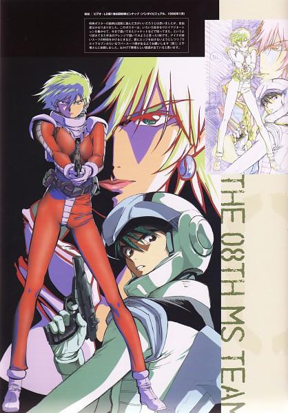 Tags: Anime, Sunrise (Studio), Mobile Suit Gundam, Shiro Amada, Aina Saharin, Mobile Suit Gundam 08, Space Suit, Mobile Suit Gundam 08th Ms Team, Official Art, Sketch, Scan