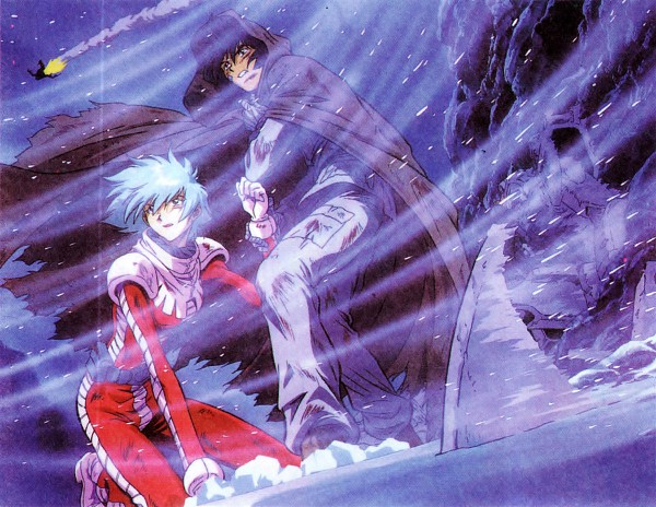 Tags: Anime, Sunrise (Studio), Mobile Suit Gundam, Shiro Amada, Aina Saharin, Mobile Suit Gundam 08th Ms Team, Official Art, Scan