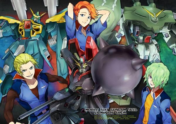 Tags: Anime, Rinnagi, Mobile Suit Gundam SEED, Orga Sabnak, Clotho Buer, Shani Andras, Pixiv, Fanart, Fanart From Pixiv