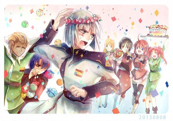 Tags: Anime, Pixiv Id 3368788, Mobile Suit Gundam SEED Destiny, Mobile Suit Gundam SEED, Meyrin Hawke, Athrun Zala, Haro, Rey Za Burrel, Dearka Elsman, Shinn Asuka, Yzak Joule, Lunamaria Hawke, Pixiv