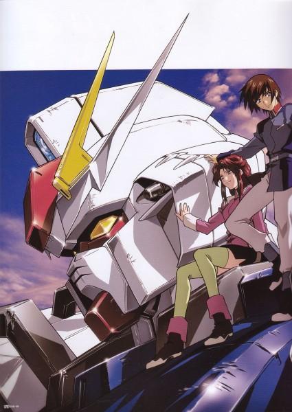 Tags: Anime, Mobile Suit Gundam SEED, Flay Allster, Kira Yamato, Strike Gundam, Official Art