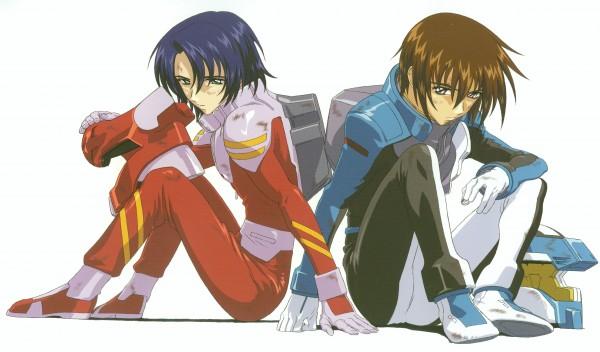 Tags: Anime, Mobile Suit Gundam SEED, Athrun Zala, Kira Yamato, Wallpaper, Official Art