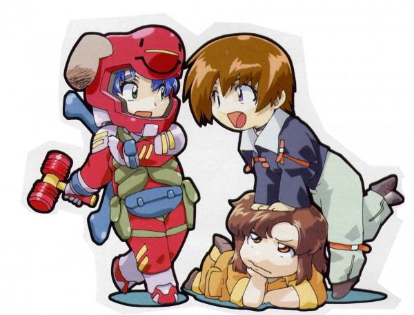 Tags: Anime, Mobile Suit Gundam SEED, Murrue Ramius, Athrun Zala, Kira Yamato, Official Art