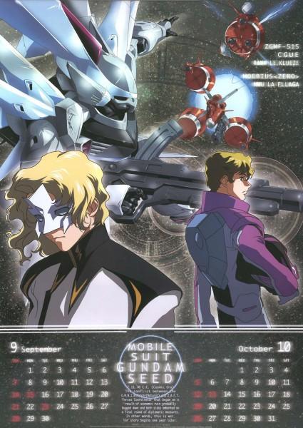 Tags: Anime, Mobile Suit Gundam SEED, Rau Le Creuset, Mwu La Flaga
