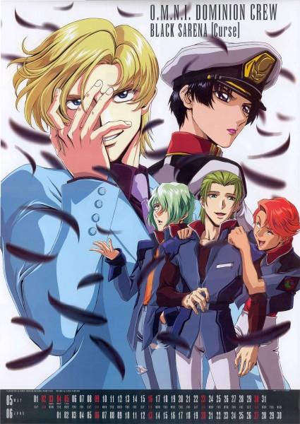 Tags: Anime, Mobile Suit Gundam SEED, Muruta Azrael, Natarle Badgiruel, Orga Sabnak, Clotho Buer, Shani Andras