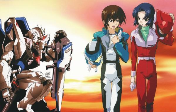 Tags: Anime, Mobile Suit Gundam SEED, Strike Gundam, Athrun Zala, Kira Yamato, Official Art