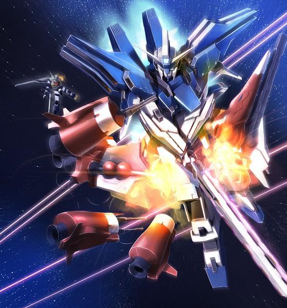 Tags: Anime, Mobile Suit Gundam SEED, Strike Gundam, Rocket, Aegis Gundam, Duel Gundam